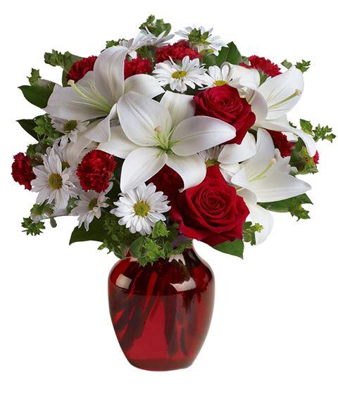 Fiori Bianchi E Verdi.Invia Online Un Bouquet Di Rose E Lilium Verde Idea Consegna A